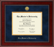 The Master's University Diploma Frame - Presidential Gold Engraved Diploma Frame in Jefferson