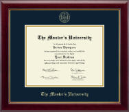 The Master's University Diploma Frame - Gold Embossed Diploma Frame in Gallery