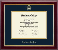Spelman College Diploma Frame - Gold Embossed Diploma Frame in Gallery