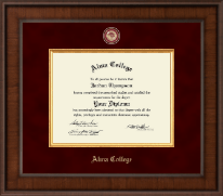 Alma College Diploma Frame - Presidential Masterpiece Diploma Frame in Madison
