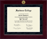Spelman College Diploma Frame - Millennium Gold Engraved Diploma Frame in Cordova