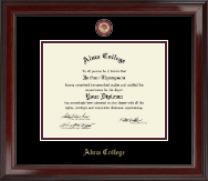 Alma College Diploma Frame - Masterpiece Medallion Diploma Frame in Encore