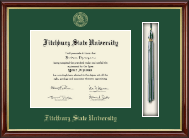 Fitchburg State University Diploma Frame - Tassel Edition Diploma Frame in Southport Gold