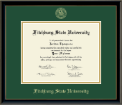 Fitchburg State University Diploma Frame - Gold Embossed Diploma Frame in Onexa Gold