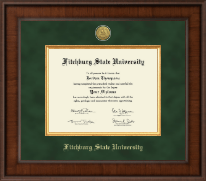 Fitchburg State University Diploma Frame - Presidential Gold Engraved Diploma Frame in Madison