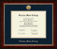 Gordon State College in Georgia Diploma Frame - Gold Engraved Medallion Diploma Frame in Murano