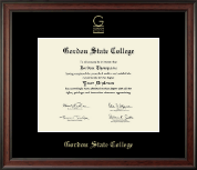 Gordon State College in Georgia Diploma Frame - Gold Embossed Diploma Frame in Studio