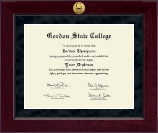 Gordon State College in Georgia Diploma Frame - Millennium Gold Engraved Diploma Frame in Cordova
