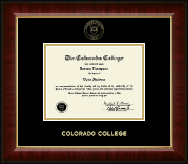 Colorado College Diploma Frame - Gold Embossed Diploma Frame in Murano