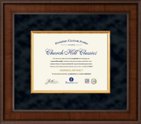 Grand Canyon University Diploma Frame - Custom Presidential Document Frame - 8.5' x 11' horizontal document in Madison