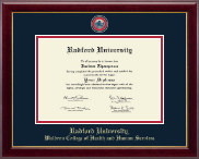 Radford University Diploma Frame - Masterpiece Medallion Diploma Frame in Gallery
