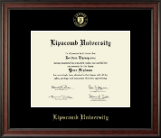 Lipscomb University Diploma Frame - Gold Embossed Diploma Frame in Studio