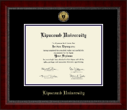 Lipscomb University Diploma Frame - Gold Engraved Medallion Diploma Frame in Sutton