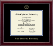 Ohio Christian University Diploma Frame - Gold Embossed Diploma Frame in Gallery