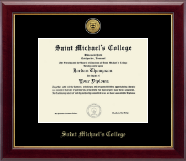 Saint Michael's College Diploma Frame - Gold Engraved Medallion Diploma Frame in Gallery