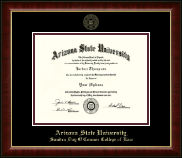 Arizona State University Diploma Frame - Gold Embossed Diploma Frame in Murano