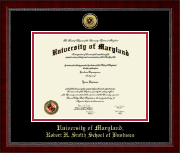 Umd Diploma Frames For Robert H Smith School Of Business