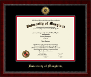 University of Maryland, College Park Diploma Frame - Gold Engraved Medallion Diploma Frame in Sutton