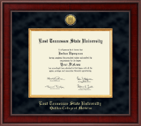 East Tennessee  State University Diploma Frame - Presidential Gold Engraved Diploma Frame in Jefferson