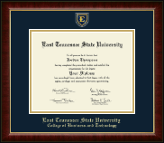 East Tennessee  State University Diploma Frame - Masterpiece Medallion Diploma Frame in Murano