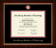 New Jersey Institute of Technology Diploma Frame - Masterpiece Medallion Diploma Frame in Murano
