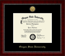 Oregon State University Diploma Frame - Gold Engraved Diploma Frame in Sutton