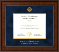 Research Administrators Certification Council Certificate Frame - Presidential Gold Engraved Certificate Frame in Madison