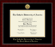 The Catholic University of America Diploma Frame - Gold Engraved Medallion Diploma Frame in Sutton