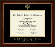 The Catholic University of America Diploma Frame - Gold Embossed Diploma Frame in Murano