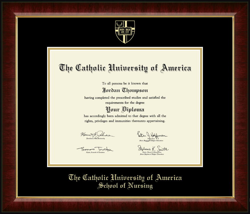 The Catholic University of America Gold Embossed Diploma Frame in ...