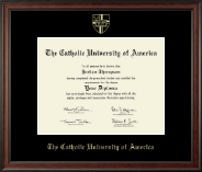 The Catholic University of America Diploma Frame - Gold Embossed Diploma Frame in Studio