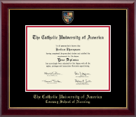 The Catholic University of America Diploma Frame - Masterpiece Medallion Diploma Frame in Gallery