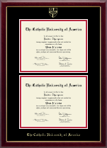 The Catholic University of America Diploma Frame - Double Diploma Frame in Gallery