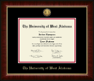 University of West Alabama Diploma Frame - Gold Engraved Medallion Diploma Frame in Murano