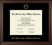 University of West Alabama Diploma Frame - Gold Embossed Diploma Frame in Studio