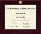 University of West Alabama Diploma Frame - Century Gold Engraved Diploma Frame in Cordova