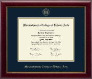 Massachusetts College of Liberal Arts Diploma Frame - Gold Embossed Diploma Frame in Gallery