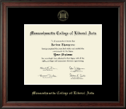 Massachusetts College of Liberal Arts Diploma Frame - Gold Embossed Diploma Frame in Studio