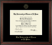 University of Texas at El Paso Diploma Frame - Gold Embossed Diploma Frame in Studio