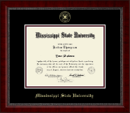 Mississippi State University Diploma Frame - Gold Embossed Diploma Frame in Sutton