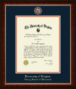 University of Virginia Diploma Frame - Masterpiece Medallion Diploma Frame in Murano