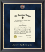 University of Virginia Diploma Frame - Regal Edition Diploma Frame in Noir