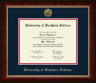 University of Southern Indiana Diploma Frame - Gold Engraved Medallion Diploma Frame in Murano