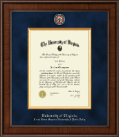 University of Virginia Diploma Frame - Presidential Masterpiece Diploma Frame in Madison