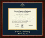 Howard University School of Law Diploma Frame - Gold Embossed Diploma Frame in Murano