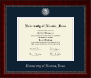 University of Nevada Reno Diploma Frame - Masterpiece Medallion Diploma Frame in Sutton