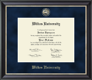 Wilkes University Diploma Frame - Regal Edition Diploma Frame in Noir