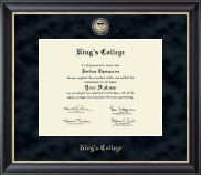 The King's College at Pennsylvania Diploma Frame - Regal Edition Diploma Frame in Noir