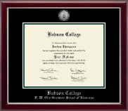 Babson College Diploma Frame - Silver Engraved Medallion Diploma Frame in Gallery Silver