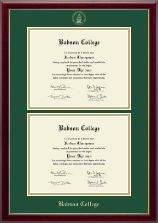 Babson College Diploma Frame - Double Diploma Frame in Gallery